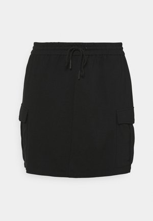 VMEVA SHORT CARGO SKIRT - Mini skirt - black