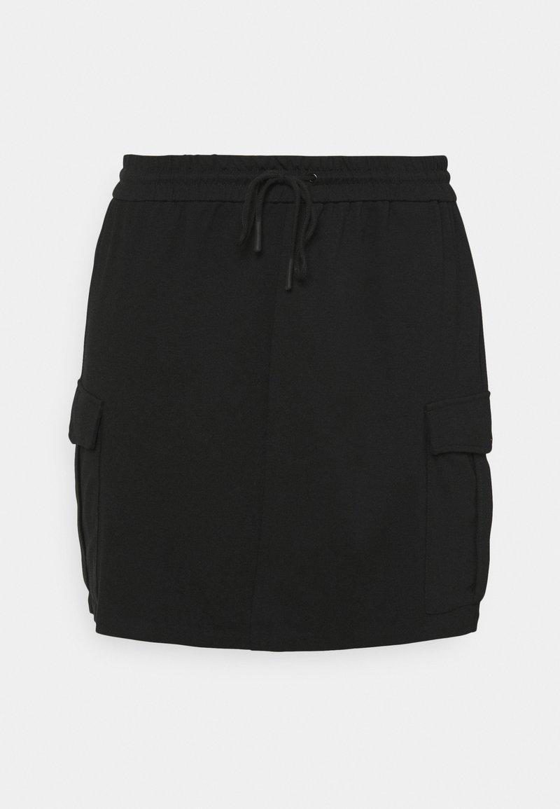 Vero Moda Curve - VMEVA SHORT CARGO SKIRT - Mini skirt - black