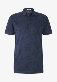 navy blue thistle print