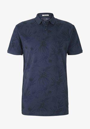 Polo shirt - navy blue thistle print