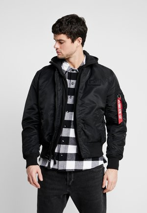TEC BACK PRINT - Bomber Jacket - black/red