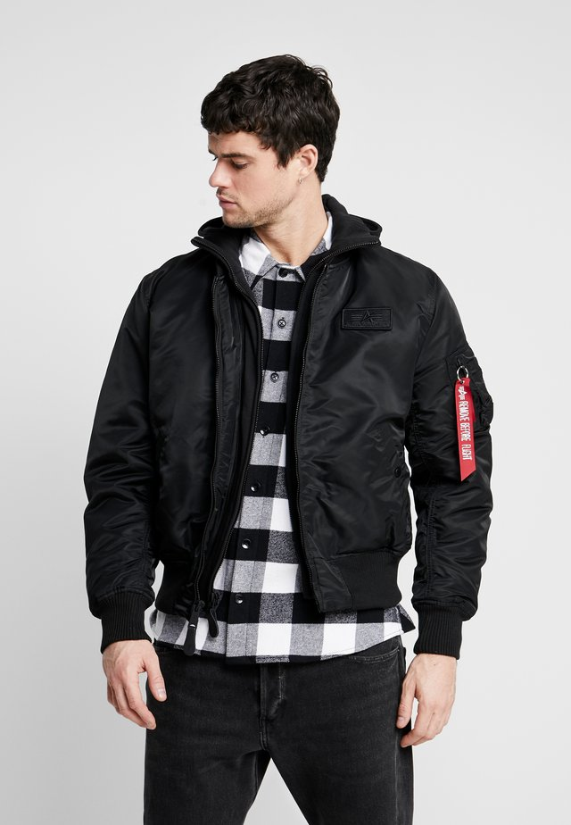 TEC BACK PRINT - Bomber Jacket - black/red