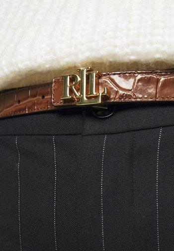 Belt - deep saddle tan