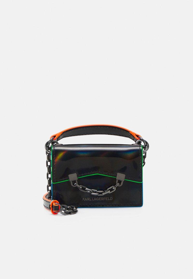 KARL LAGERFELD - SEVEN IRIDESCENT NANO - Handbag - black
