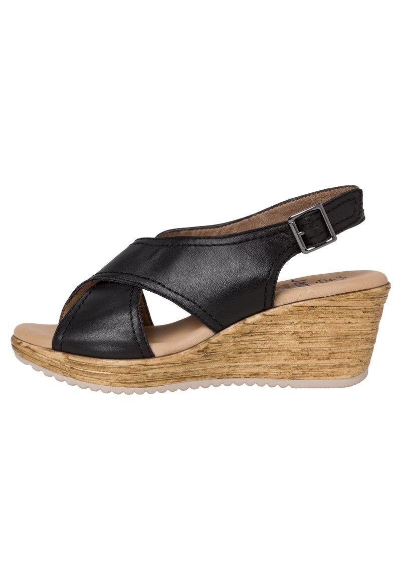 Jana - Wedge sandals - black