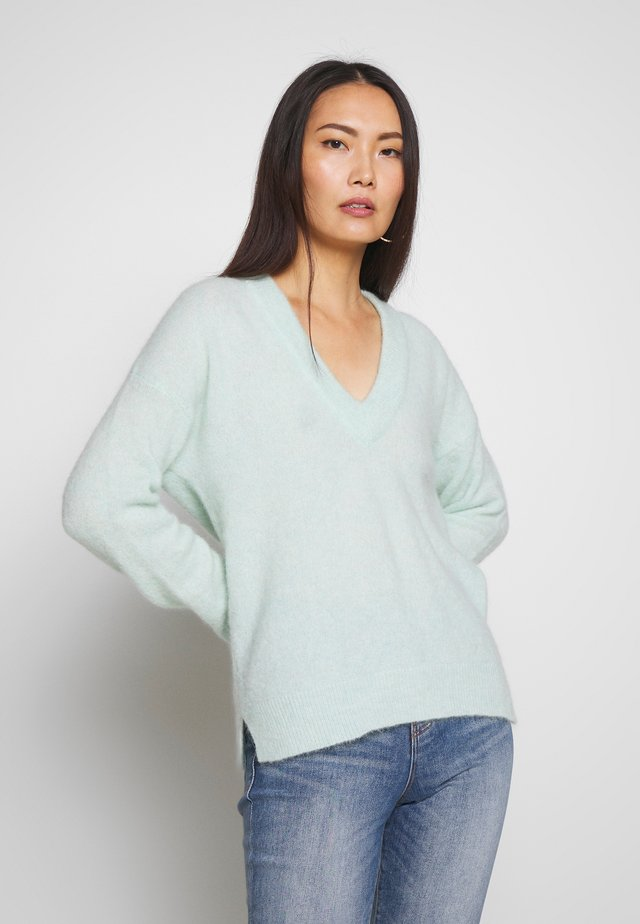 PAPINAIW VNECK - Jumper - mint green