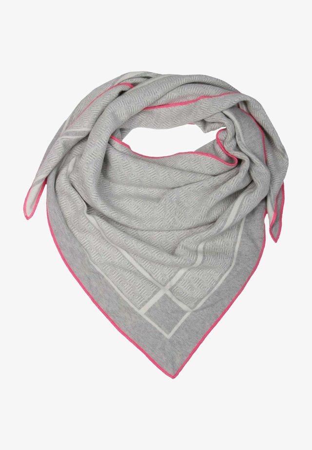 CARO DAUER - Foulard - hellgrau mit pinker kante