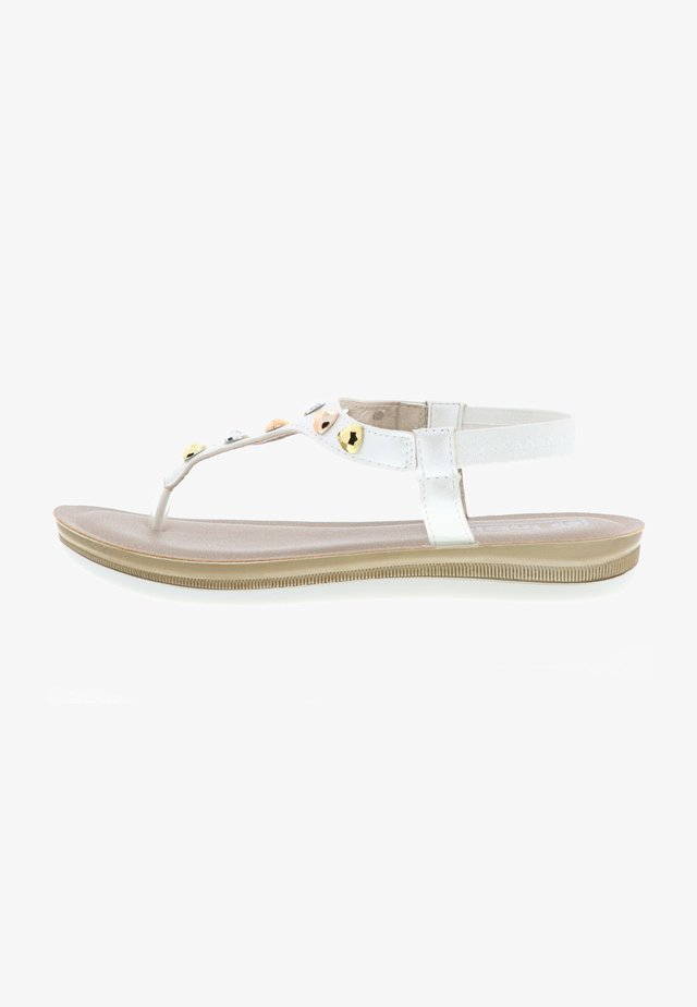 GLITZEROPTIK  - T-bar sandals - weiß