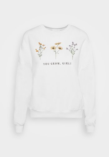 FLOWER  PRINTED SWEATER