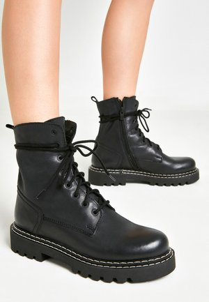 Lace-up ankle boots - black blk