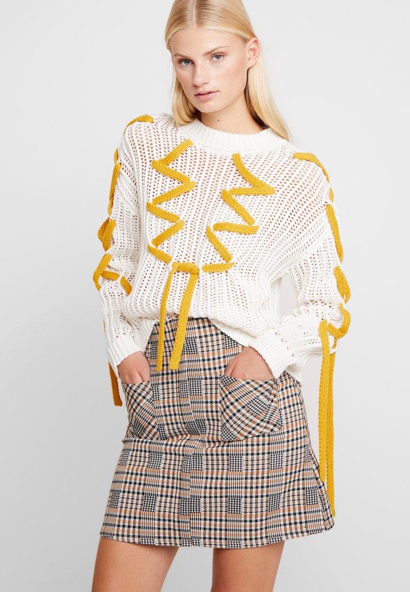 Dorothy Perkins - CHECK - A-line skirt - multi-coloured