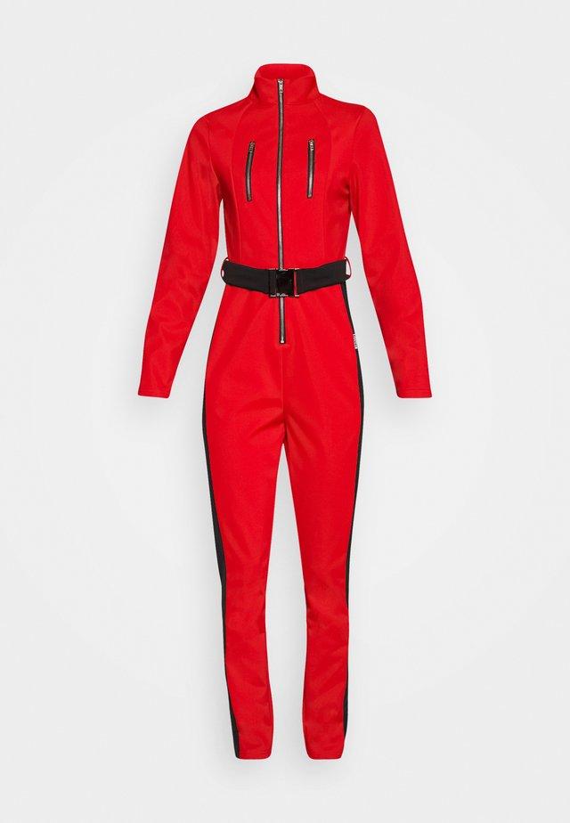SKI SLIM FIT SNOW SUIT - Jumpsuit - red