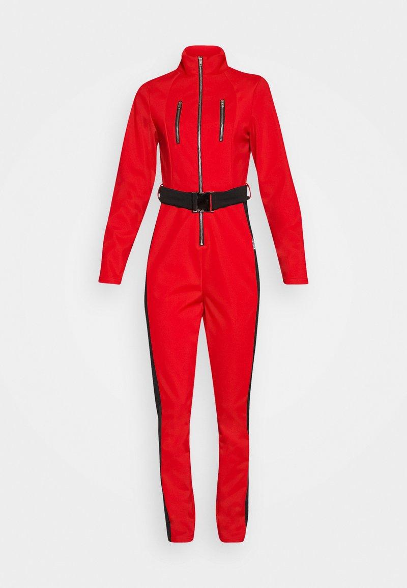 Missguided - SKI SLIM FIT SNOW SUIT - Jumpsuit - red