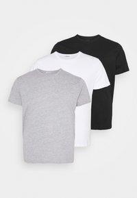 LTB - 3 PACK - Basic T-shirt - black/grey/white - 0