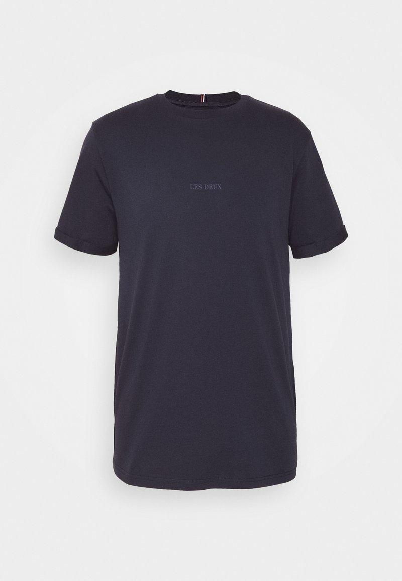Les Deux LENS - T-Shirt basic - off white / cobalt blue/offwhite qurog4