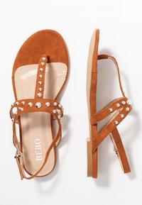 BEBO - MORA - Sandály s odděleným palcem - tan - 3