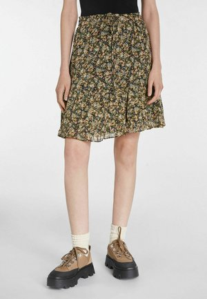 A-line skirt - black green