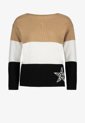 MIT COLOR BLOCKING - Jumper - camel/black