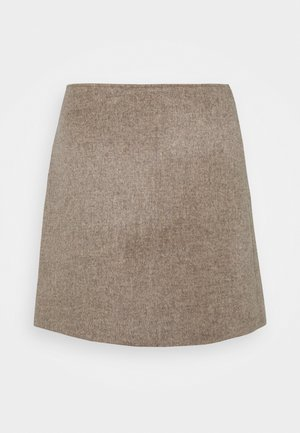 CENTIE SKIRT - Mini skirt - mushroom