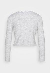 Noisy May Petite - NMMODE NECK SHORT - Cardigan - light grey / melange - 1