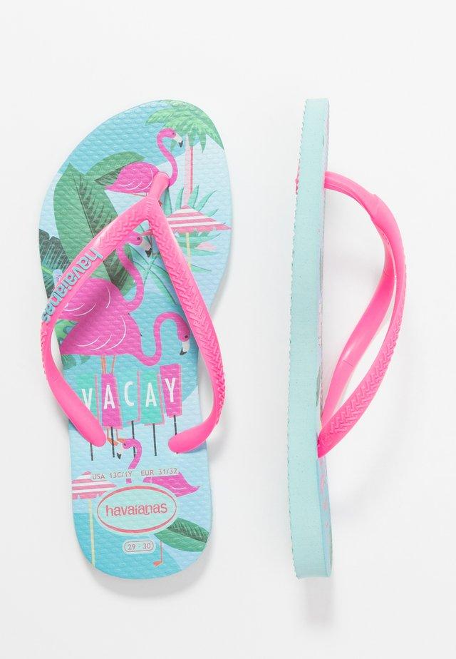KIDS SLIM FIT DISNEY COOL - Tongs - ice blue/shocking pink