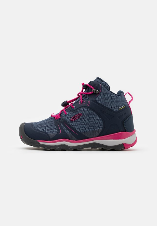 TERRADORA II MID WP UNISEX - Hiking shoes - black iris/pink peacock