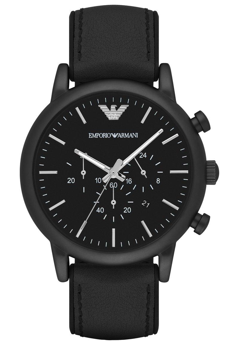 Emporio Armani - Chronograph watch - black