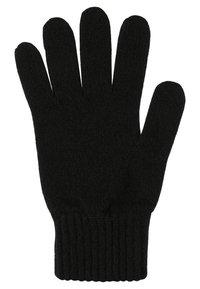 Johnstons of Elgin - CASHMERE GLOVES - Gloves - black - 2