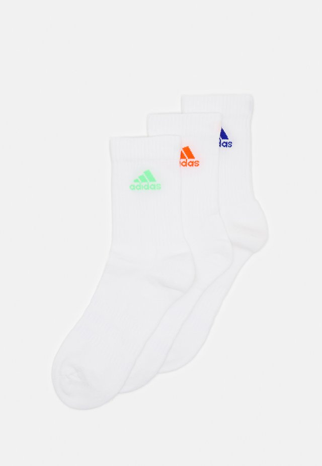 CUSH 3 PACK UNISEX - Sports socks - white