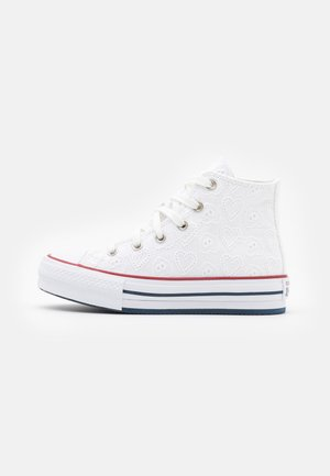 CHUCK TAYLOR ALL STAR EVA LIFT - Sneaker high - white/garnet/midnight navy