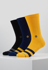 Stance - 3 PACK - Calcetines - black/yellow/dark blue - 0