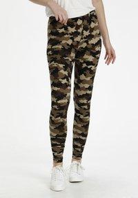 Culture - CUSEMIRA  - Leggings - Trousers - brown camouflage - 0