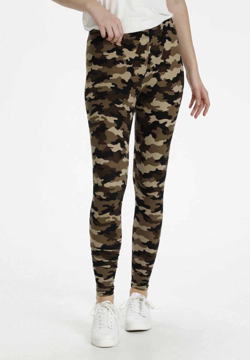 Culture - CUSEMIRA  - Leggings - Trousers - brown camouflage