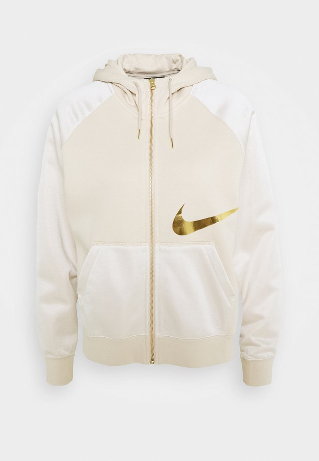 Zip-up hoodie - oatmeal/metallic gold