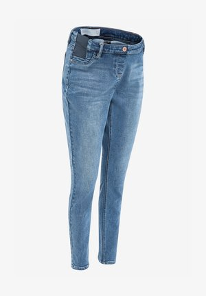 DENIM GREY MATERNITY SUPER SOFT - Jeans Skinny Fit - blue