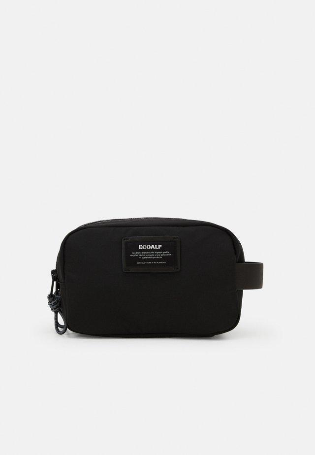 BIG DOUBLE ZIPPER UNISEX - Toiletti-/meikkilaukku - black