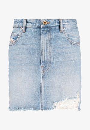 DE-ELLE SKIRT - Denim skirt - indigo