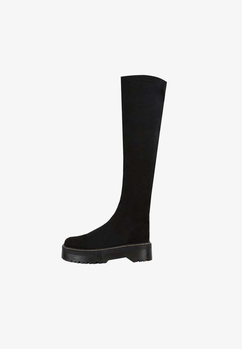 MIM Shoes - TEAM ROCKET - Plateaulaarzen - black