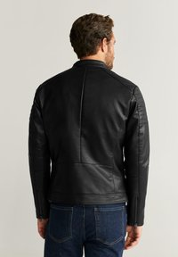 Mango - JOSENO - Faux leather jacket - black - 2