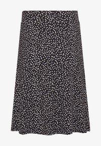 TOM TAILOR - SKIRT PRINTED - A-line skirt - black/offwhite/grey - 1