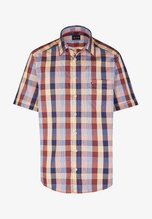MODERNES IM KARO-LOOK KURZARM - Shirt - orange