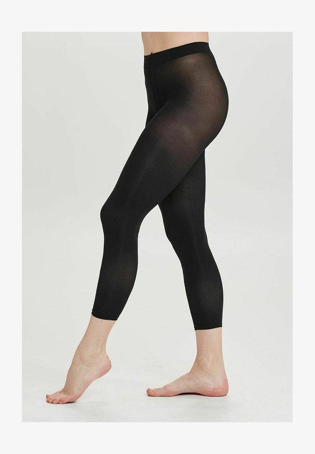 MICROFIBER - Leggings - black