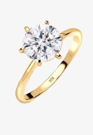 GLASS CRYSTAL - Ringe - gold-coloured/white