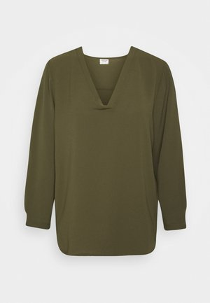 JDYMILO VNECK - Blouse - forest night