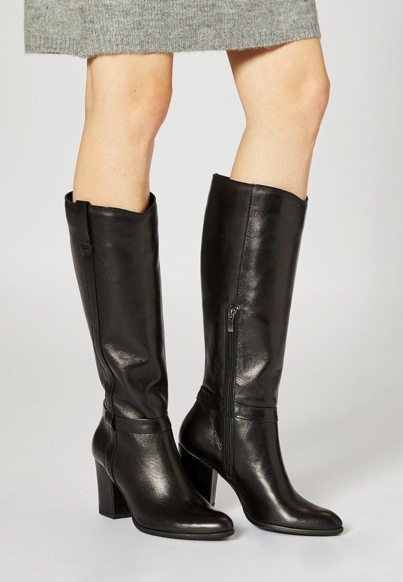 usha - Laarzen met hoge hak - black