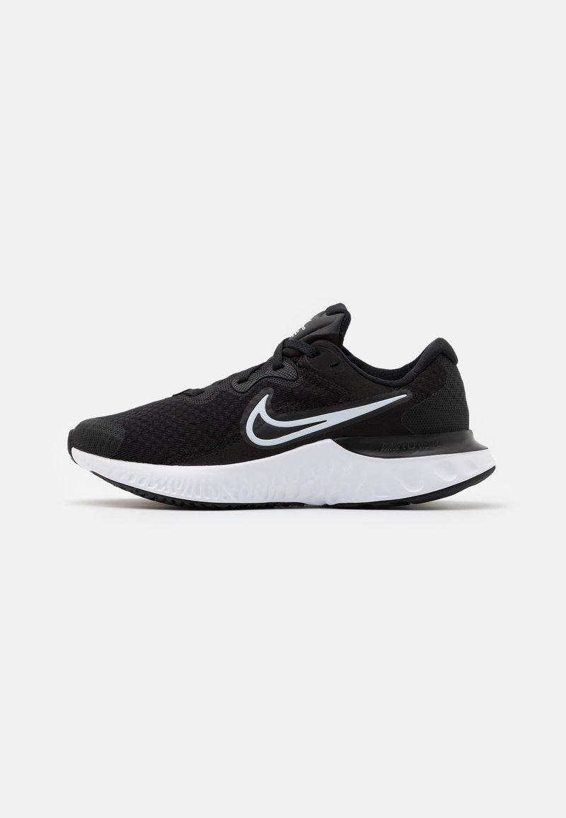 Nike Performance - RENEW RUN 2 GS - Neutral running shoes - black/white/dark smoke grey
