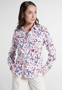Eterna - MODERN CLASSIC - Button-down blouse - blue/saffron/white - 0