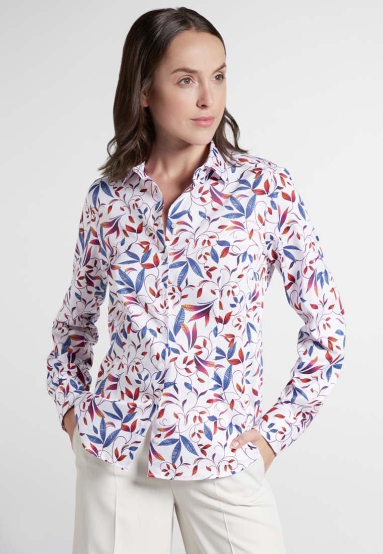 Eterna - MODERN CLASSIC - Button-down blouse - blue/saffron/white