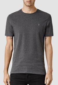 AllSaints - BRACE - Basic T-shirt - charcoal marl - 0