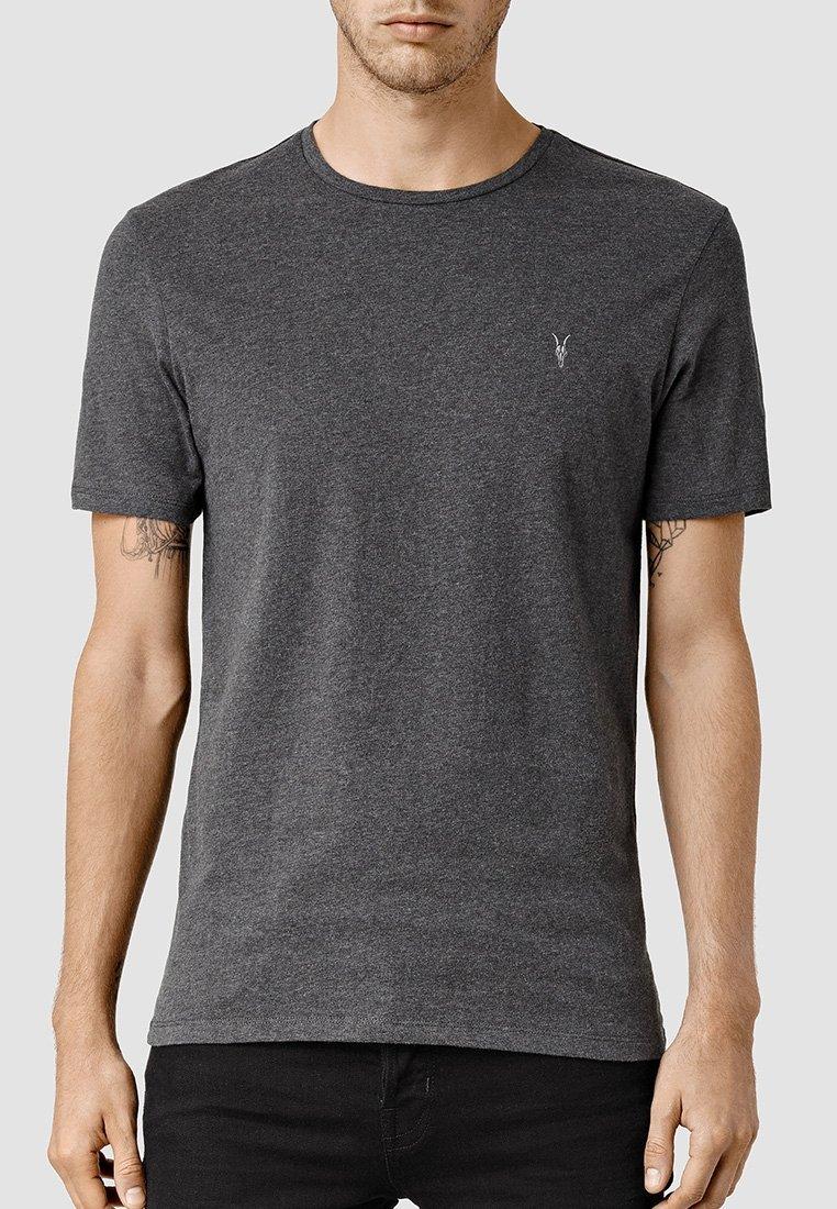 AllSaints - BRACE - Basic T-shirt - charcoal marl